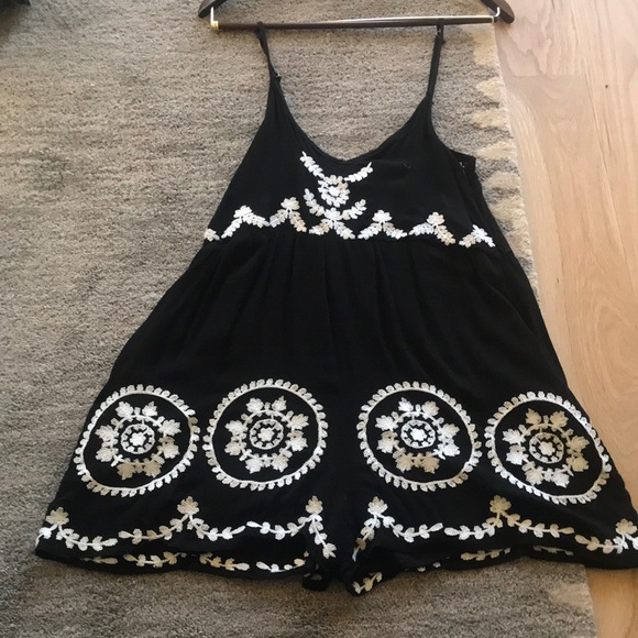 mika and gala Dresses & Skirts - Black embroidered romper